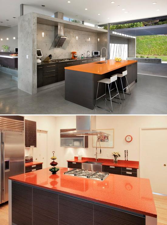 Orange-Countertops