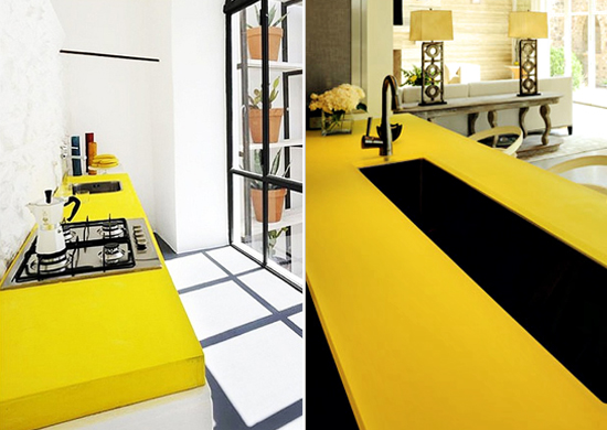 yellow-color-counter-tops