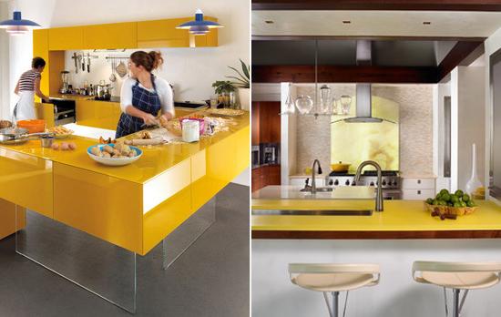 yellow-kitchen-countertop