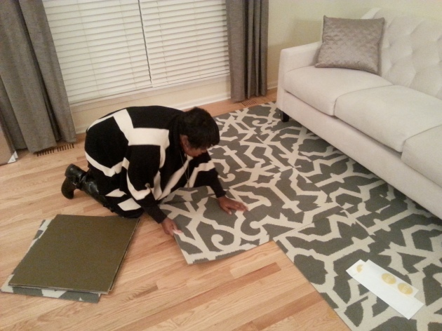 Installing the FLOR tiles