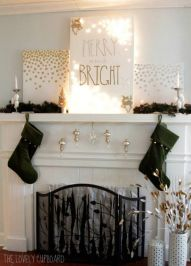 DIY- Holiday Mantle