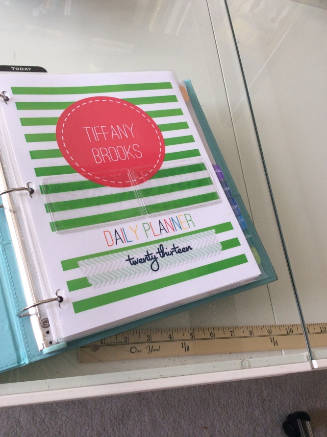 Tiffany Brooks' DIY Life Planner