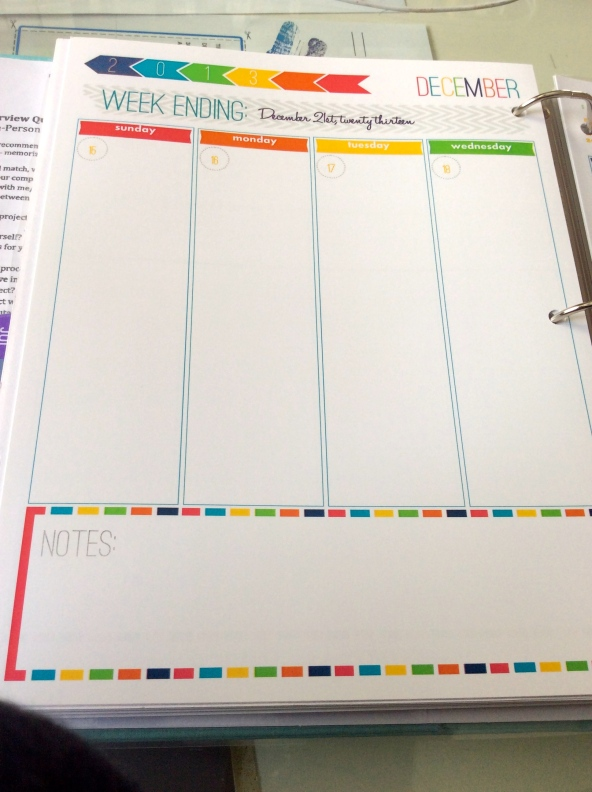 tiffany brooks' DIY Life Planner