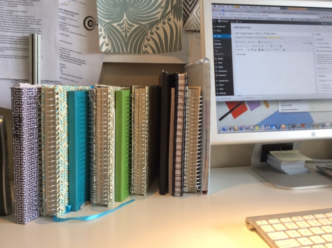 tiffany brooks' office of notebooks